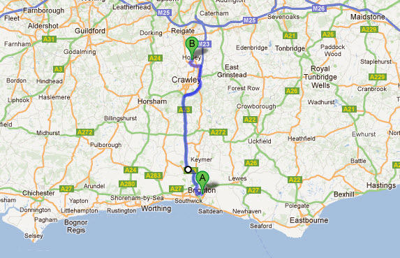 how far is brighton from reading